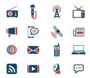 För massmedia symboler enkelt Arkivbild