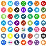 För massmediafärger för symboler sociala vektorer stock illustrationer