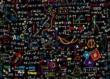 För matematikutbildning för matematik linjär bakgrund för cirkel med geometr royaltyfri illustrationer