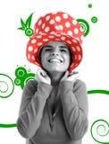 för materielkvinna för foto nätt barn Fotografering för Bildbyråer