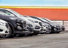 För materiellott för bilar till salu rad Royaltyfria Foton