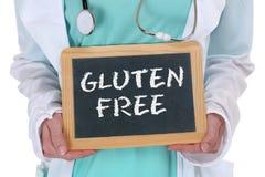 För matmål för gluten hälsa för doktor för äta för fri allergi sund royaltyfria bilder