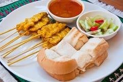 för matmu för ett felanmälan thai läckra satae Royaltyfria Bilder