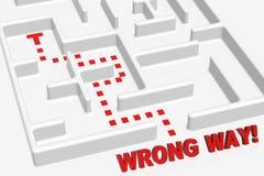 för maze wrong långt Royaltyfri Foto