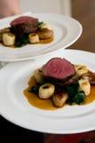 för medalionssås för nötkött gourmet- grönsaker Royaltyfria Foton