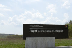För medborgareminnesmärke för flyg 93 tecken Arkivfoton