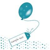 För meddelandeballon för turkos grön vektor Arkivfoton