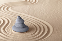 För meditationsten för Zen trädgårds- bakgrund Royaltyfria Foton