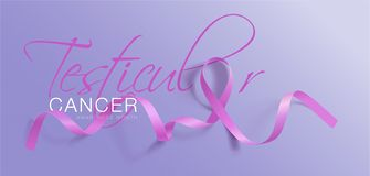 För medvetenhetkalligrafi för Testicular cancer design för affisch Realistiskt orkidéband April är cancermedvetenhetmånaden vekto royaltyfri illustrationer