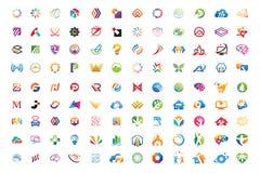 För mega vektor eps 10 för uppsättning för symbol för affär samlingsabstrakt begrepp för logo geometrisk royaltyfri illustrationer