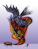 för meningsfrihet för fågel emotionellt tillstånd ta Royaltyfria Bilder