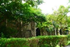 För Merida Churbunacolonial för mexikan kyrklig historia arkitektur royaltyfri foto