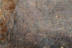 För metallyttersida för åldrig grunge rostig textur i ridit ut villkor arkivbilder