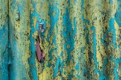 för metallyttersida för abstrakt bakgrund korrugerad textur Arkivbilder