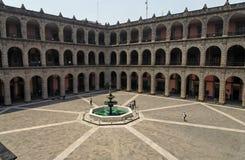 för mexico för stad inre fyrkant nationell slott Arkivfoto