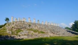 För Mexiko för Ake pyramidMaya turism för lopp för kultur historia sigtseeing royaltyfria foton