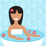 för michael för bad brun tid foto r bad som tar kvinnan stock illustrationer