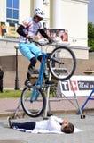 ½ för Mikhail Sukhanov ï¿ mästaren av Ryssland på ett cirkuleringsförsök, handlingar arkivfoton
