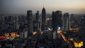 För Minsheng för Wuhan stadsHankou område byggnad bank royaltyfria foton