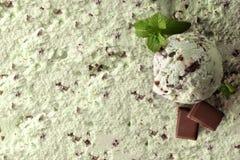 För mintkaramellchoco för glass bästa sikt för smaksatt bakgrund fotografering för bildbyråer