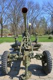För mmkaliber för sovjet 25 anti--flygplan vapen M1940 72-K Arkivbild