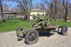 För mmkaliber för sovjet 25 anti--flygplan vapen M1940 72-K Royaltyfri Bild