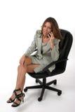 för mobiltelefonledare för 6 affär kvinna Royaltyfri Fotografi