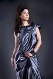 för modelady för klänning elegant kvinna Arkivbild