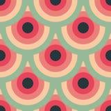 För modellabstrakt begrepp för cirklar sömlös bakgrund Stock Illustrationer