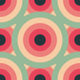 För modellabstrakt begrepp för cirklar sömlös bakgrund Arkivfoton