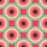 För modellabstrakt begrepp för cirklar sömlös bakgrund Royaltyfri Illustrationer