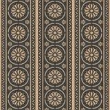 För modellbakgrund för vektor arg ram för damast sömlös retro kurva för runda, kedjelinje blomma Elegant lyxig brun signaldesign  vektor illustrationer