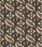 För modellbakgrund för vektor blomma för blad för växt för damast sömlös retro orientalisk kurva för botanisk trädgård spiral arg royaltyfri illustrationer