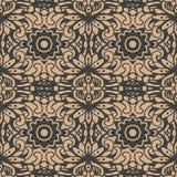 För modellbakgrund för vektor blomma för blad för vinranka för ram för damast sömlös retro kurva orientalisk spiral arg Elegant l stock illustrationer
