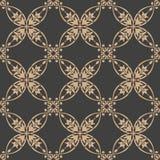 För modellbakgrund för vektor blomma för blad för vinranka för ram för damast sömlös retro kurva oval arg Elegant lyxig brun sign royaltyfri illustrationer