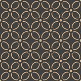 För modellbakgrund för vektor blomma för prick för damast sömlös retro kurva för runda arg Elegant lyxig brun signaldesign för ta vektor illustrationer