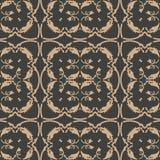 För modellbakgrund för vektor blomma för vinranka för blad för ram för damast sömlös retro kurva för botanisk trädgård spiral arg stock illustrationer