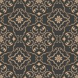 För modellbakgrund för vektor blomma för vinranka för blad för ram för damast sömlös retro kurva orientalisk spiral arg Elegant l vektor illustrationer