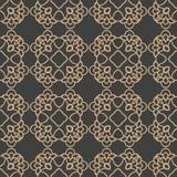 För modellbakgrund för vektor design för signal för damast sömlöst retro för kurva för kors orientaliskt för ram vapen för kedja  royaltyfri illustrationer