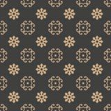 För modellbakgrund för vektor kalejdoskop för blomma för damast sömlös retro kurva spiral arg Elegant lyxig brun signaldesign för vektor illustrationer