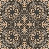 För modellbakgrund för vektor kalejdoskop för blomma för damast sömlöst retro för runda kors för kurva botanisk Elegant lyxig bru stock illustrationer