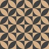 För modellbakgrund för vektor kalejdoskop för geometri för damast sömlös retro kurva för runda arg Elegant lyxig brun signaldesig stock illustrationer