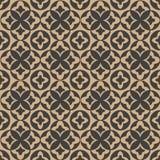 För modellbakgrund för vektor kalejdoskop för ram för blad för damast sömlös retro kurva för runda arg Elegant lyxig brun signald royaltyfri illustrationer