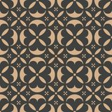 För modellbakgrund för vektor kalejdoskop för ram för blomma för damast sömlös retro kurva för runda arg Elegant lyxig brun signa vektor illustrationer