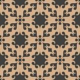 För modellbakgrund för vektor kalejdoskop för ram för geometri för damast sömlös retro kurva spiral arg Elegant lyxig brun signal vektor illustrationer