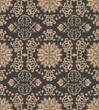 För modellbakgrund för vektor kedja för blomma för blad för vinranka för ram för damast sömlös retro orientalisk kurva för polygo royaltyfri illustrationer