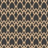 För modellbakgrund för vektor kedja för ram för damast sömlös retro kurva för geometri arg Elegant lyxig brun signaldesign för ta vektor illustrationer