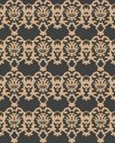 För modellbakgrund för vektor kedja för ram för vapen för damast sömlös retro kurva spiral arg Elegant lyxig brun signaldesign fö royaltyfri illustrationer