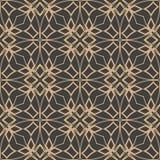 För modellbakgrund för vektor linje för kedja för ram för geometri för damast sömlös retro kurva arg kalejdoskop Elegant lyxig br stock illustrationer