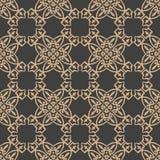 För modellbakgrund för vektor linje för kedja för ram för geometri för damast sömlös retro kurva arg kalejdoskop Elegant lyxig br royaltyfri illustrationer